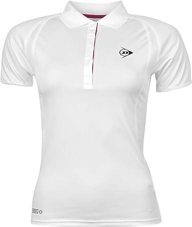Dunlop agujeros Polo para mujer para tenis y Polo de manga corta en la parte superior y manga corta T-camiseta de manga corta: Amazon.es: Ropa y accesorios
