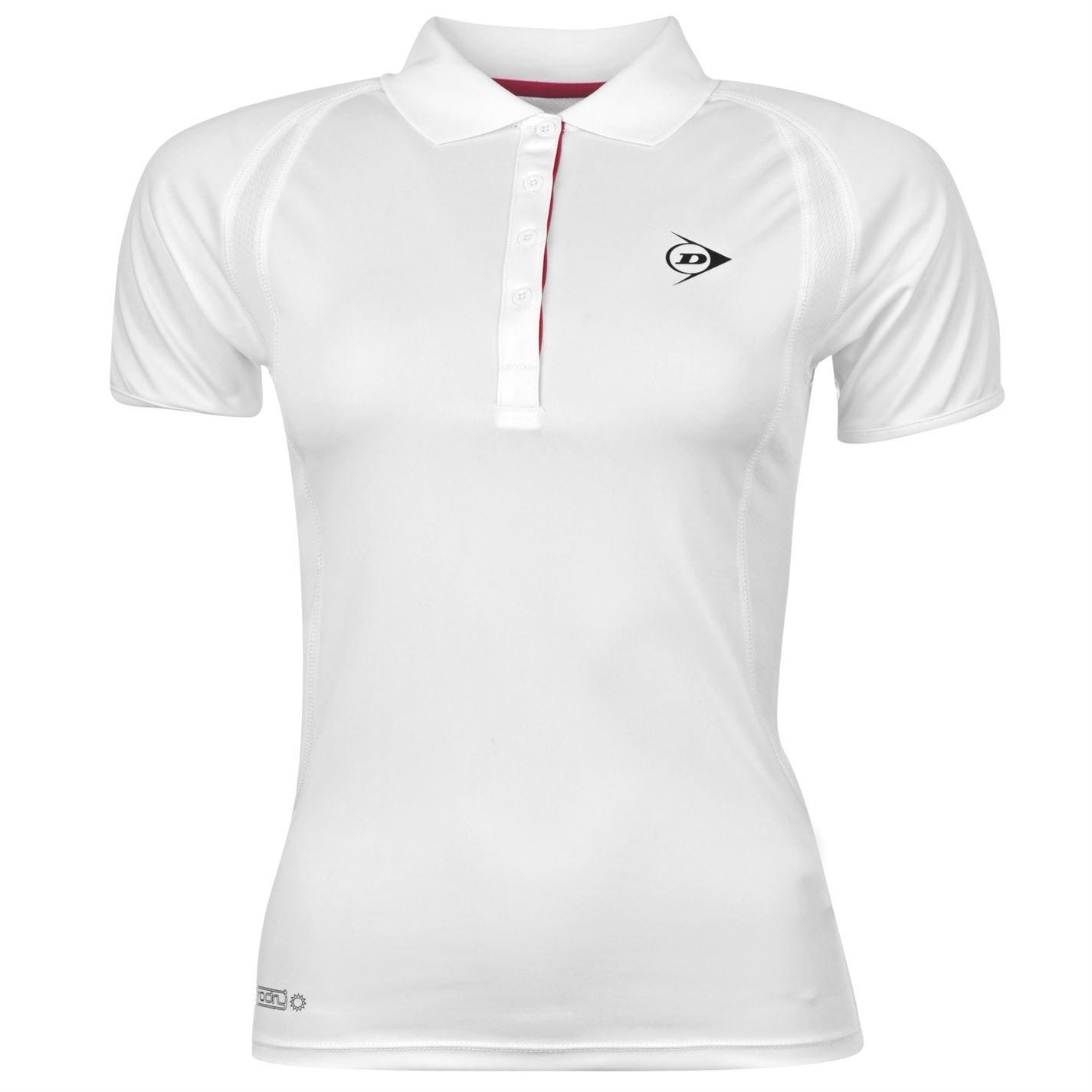 Dunlop agujeros Polo para mujer para tenis y Polo de manga corta ...