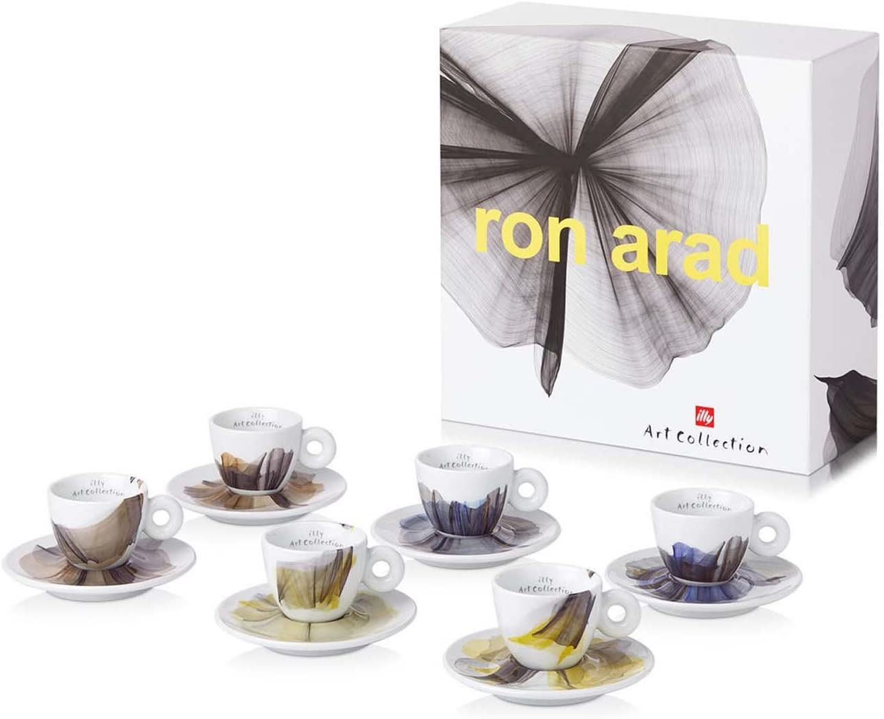 illy Ron Arad Espresso Art Collection - Juego de 6 tazas de café