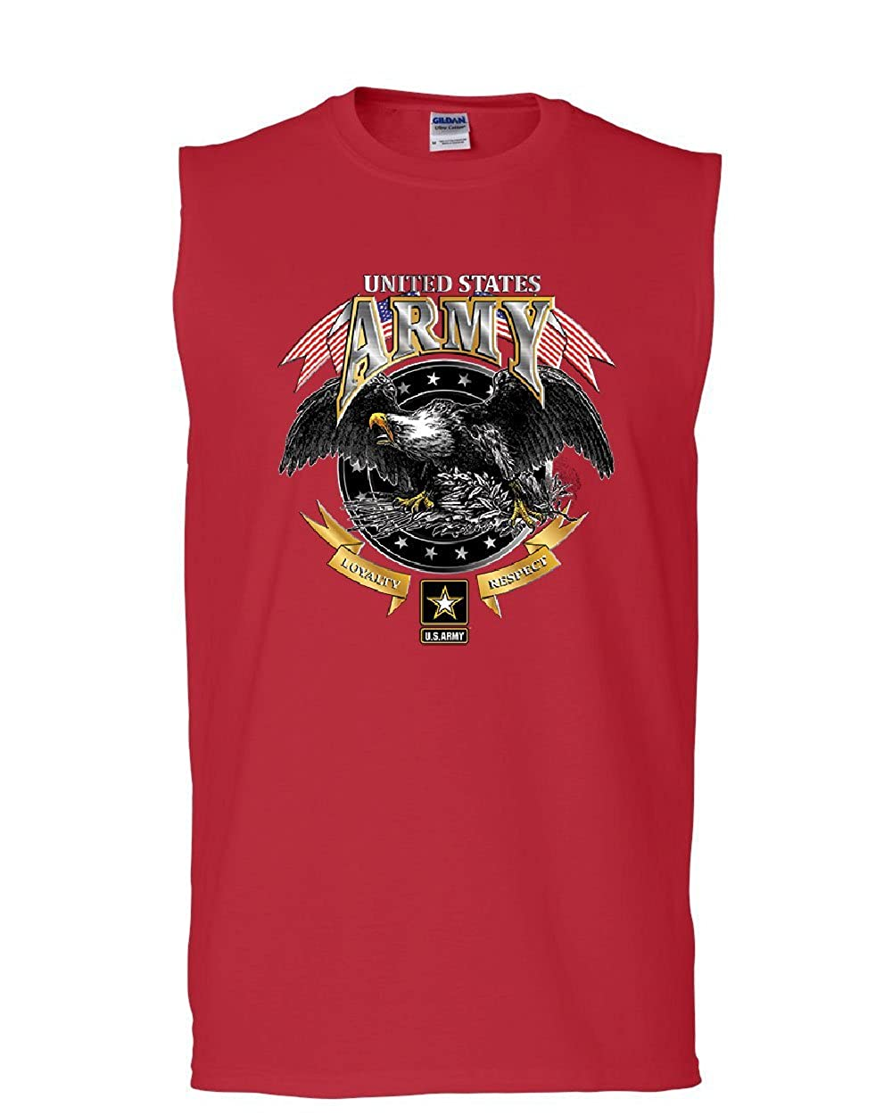 Tee Hunt United States Army Muscle Shirt Loyalty Respect Bald Eagle Pow Mia Sleeveless