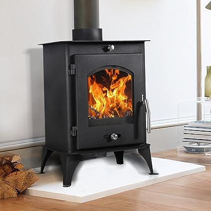 lincsfire Nettleham 7,56 kW moderno quemador de leña Multifuel estufa de leña diseño de