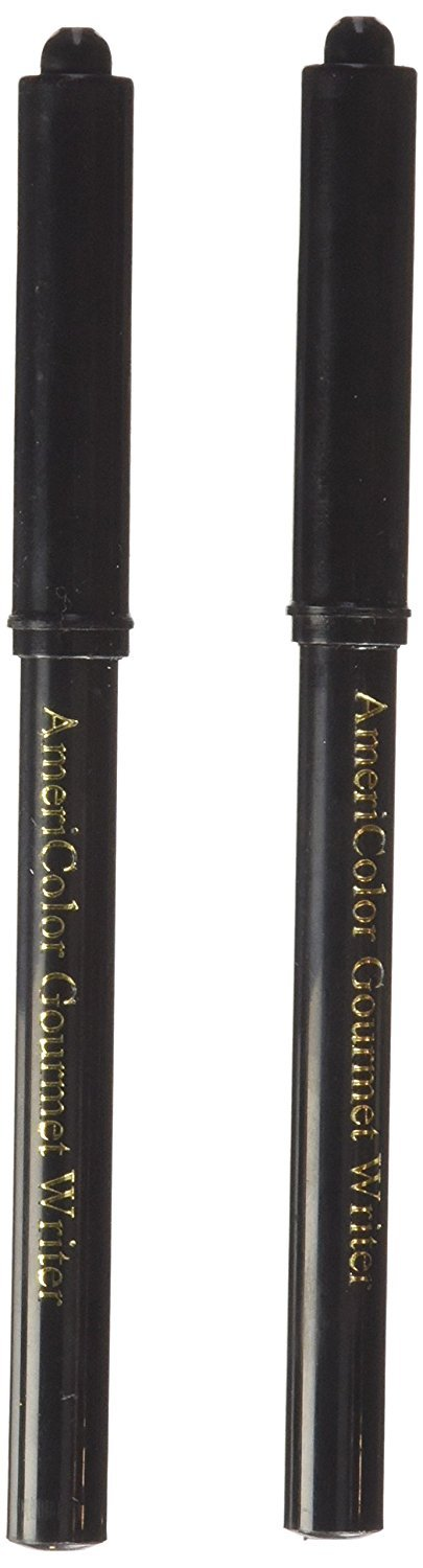 Americolor 2-Count Gourmet Writer Food Decorating Pens, Black