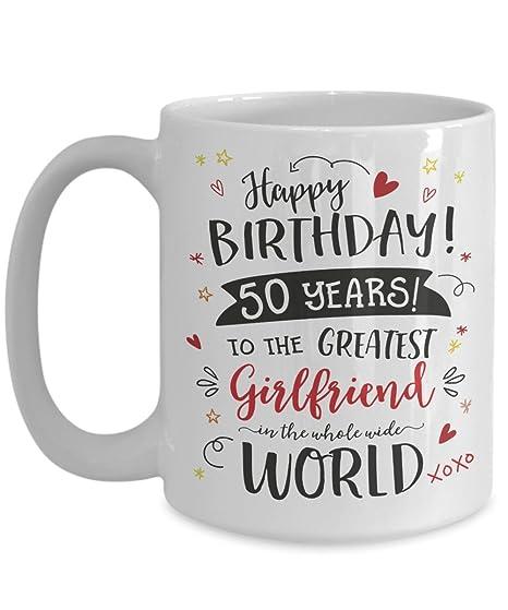 Amazon.com: Taza de regalo de 50 cumpleaños para novia – 50 ...