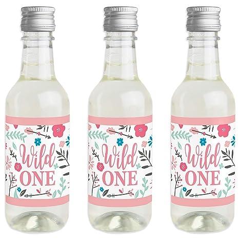 Amazon.com: Shes a Wild One – Mini pegatinas para botellas ...