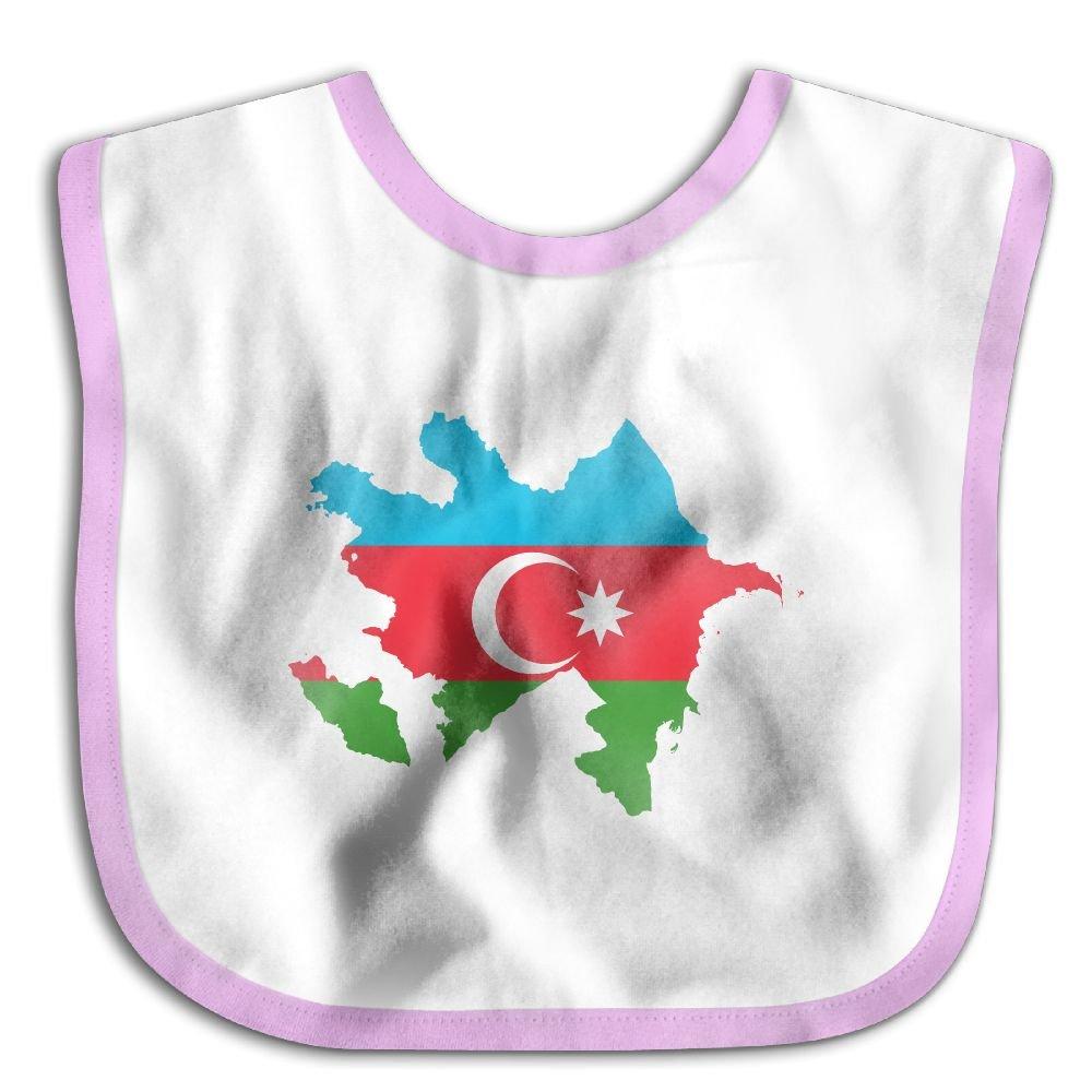 Flag Map of Azerbaijan Personalized Scarf Bib Feeding /& Teething Fancy Baby Bibs and Burp Cloth Polyester Cotton