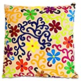 Imports Décor Bright Flowers and Vines Throw Pillow