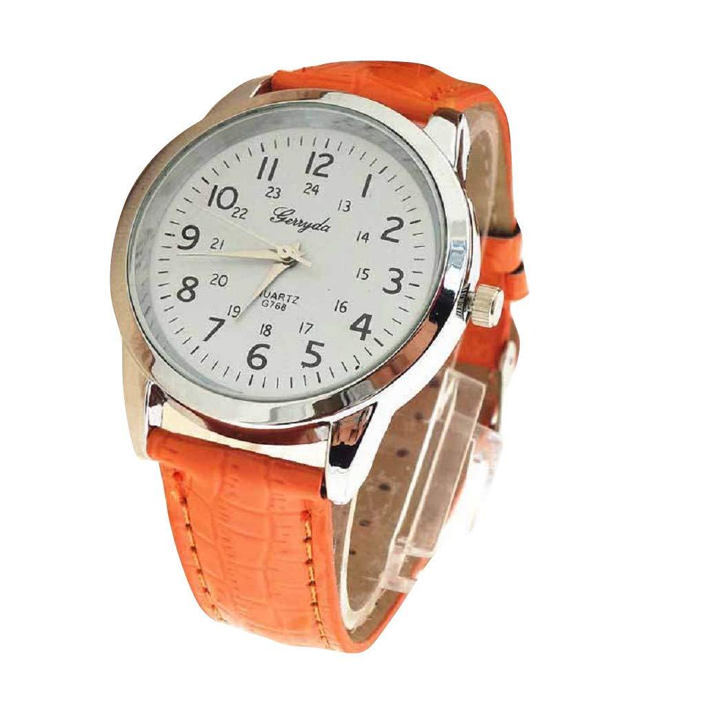 Elegant Analog Luxury Sports Leather Strap Quartz Mens Wrist Watch Or