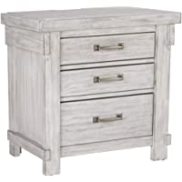 Overstock.com deals on Signature Design by Ashley Brashland White Nightstand