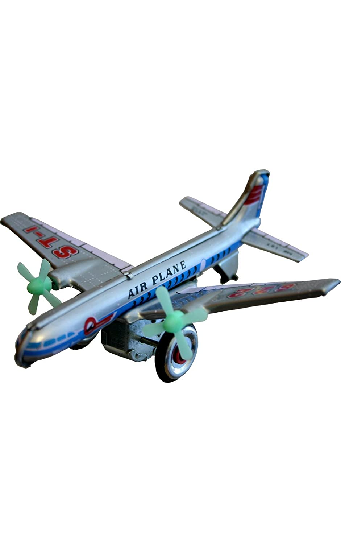 Amazon.com: Shan MF107 Collectible Tin Toy - Plane: Toys & Games