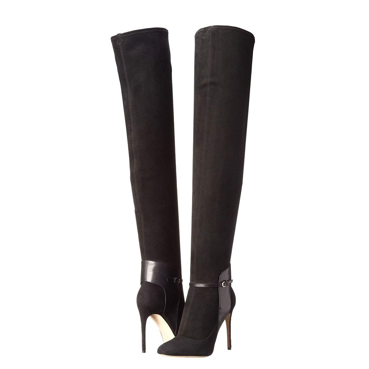 ZHAOYUNZHEN Stiletto Kniehohe Stiefel für Damen im Herbst und Winter