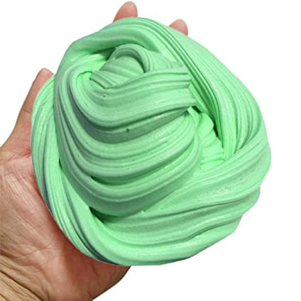 Amazoncom Newest Green Fluffy Slime Crystal Super Soft Fluffy