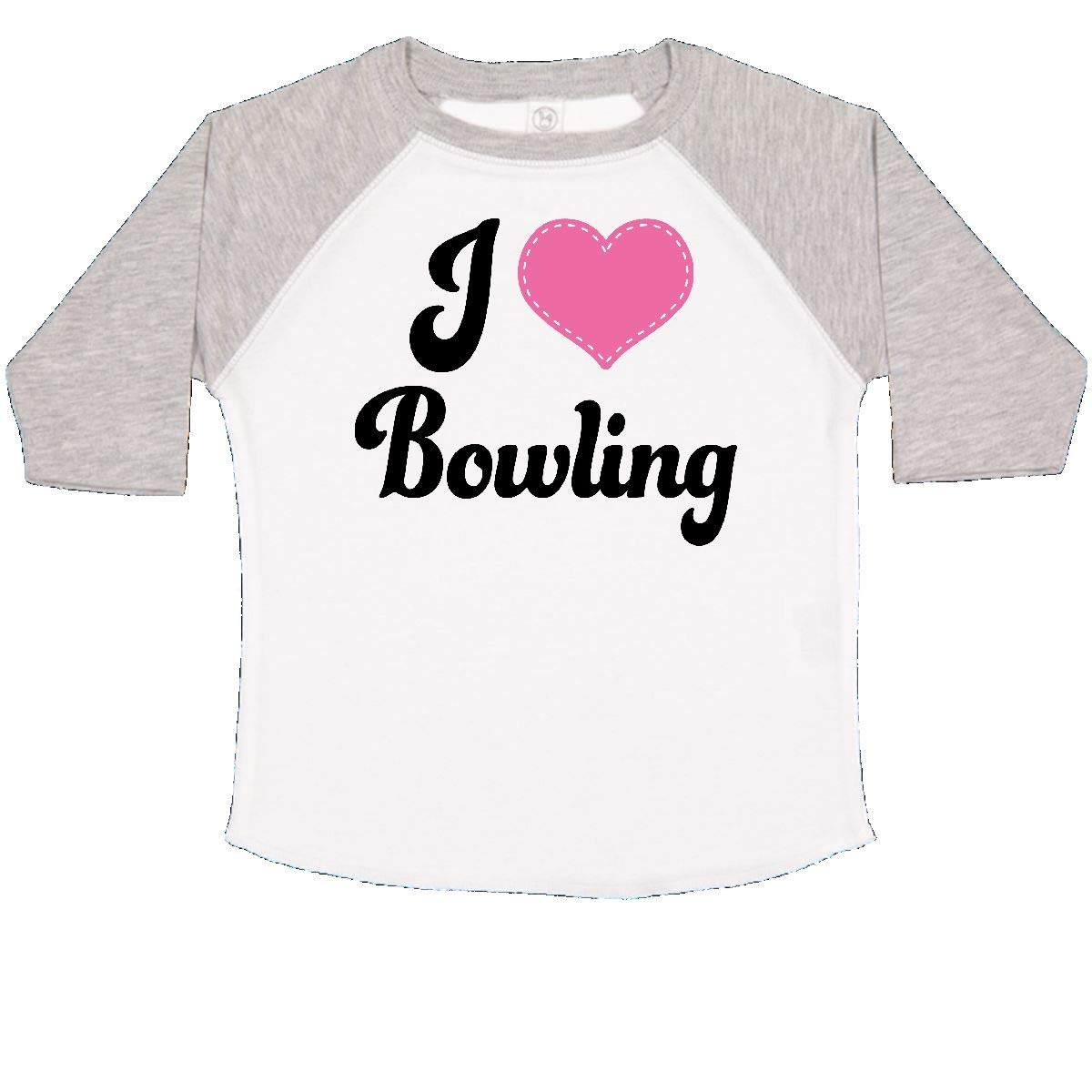 inktastic I Love Bowling Heart Toddler T-Shirt