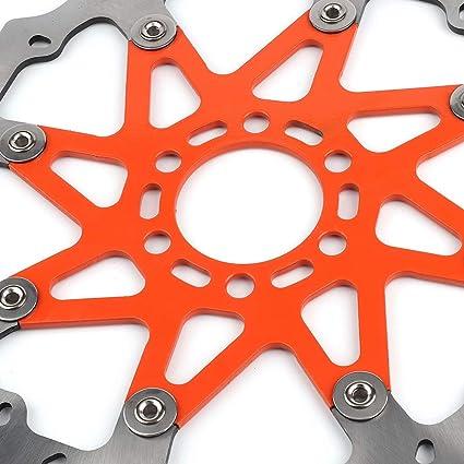 Akozon Ajuste de Disco de Freno de Aluminio Delantero para 125//200//390 ABS DUKE 2013-2014 Disco de Freno de Onda