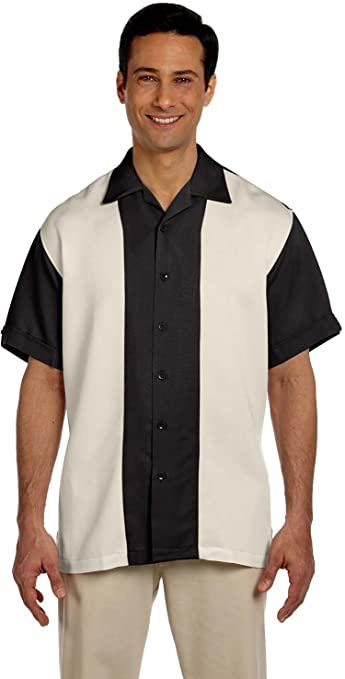 Mens Vintage Shirts – Casual, Dress, T-shirts, Polos Harriton Mens Two-Tone Bahama Cord Camp Shirt $39.95 AT vintagedancer.com