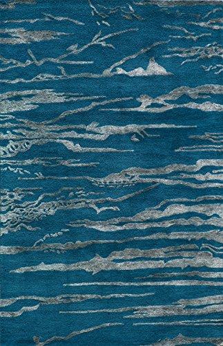 Momeni Rugs ZEN00ZEN-2CBT3656 Zen Collection, Wool & Banana Silk Hand Tufted Contemporary Ar ...