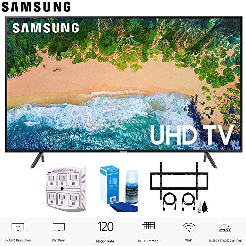 "Samsung 55NU7100 55"" NU7100 Smart 4K UHD TV (2018) with Wall Mount+Cleaning Kit (UN55NU7100)"