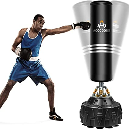6ft Black Free Standing Punching Bag Boxing Stand Gym Kick Fight Training  MMA