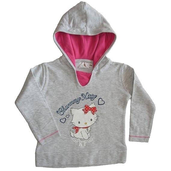 Charmmy Kitty - Sudadera con Capucha - para niña Gris 2-3 años: Amazon.es: Ropa y accesorios