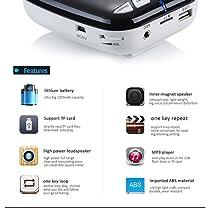 Zoweetek® Amplificador de voz portátil ultraligero formato MP3