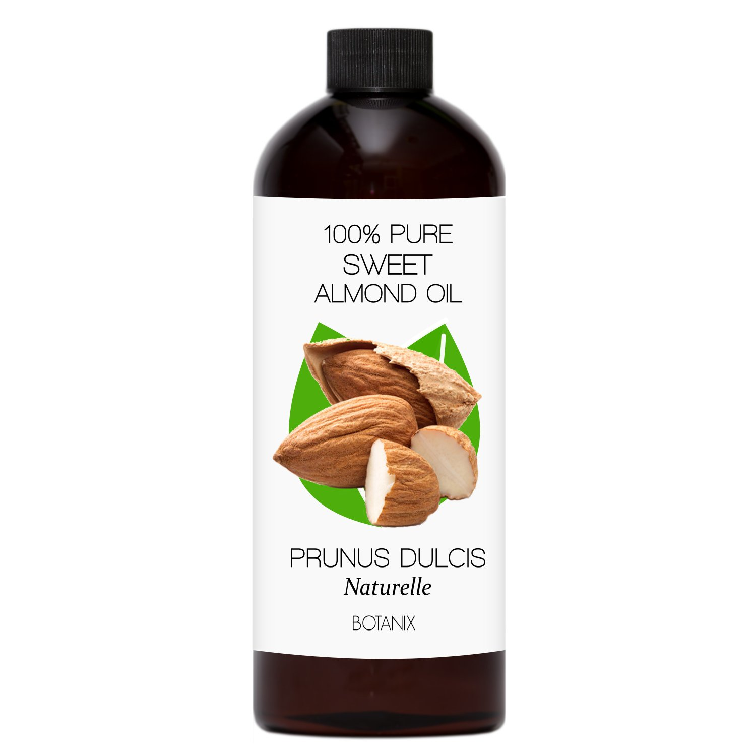 SWEET ALMOND OIL – 100% Pure Cold-Pressed Moisturizing Carrier Oil – 473 mL (16 Oz) Botanix Health Inc.