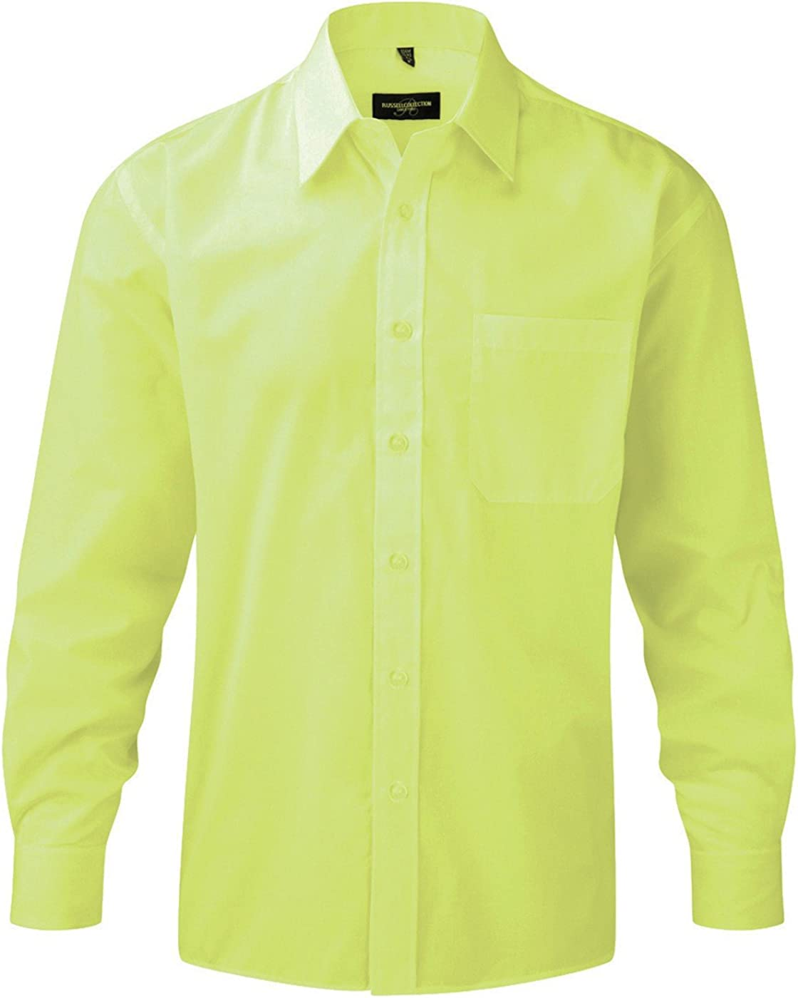 Russell Z934 - Camisa de popelina de manga larga, para Hombre