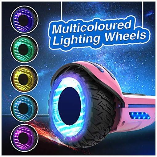 RCB Overboard 6,5″ et Scooter Electrique Auto-équilibré avec LED Gyropode Intelligent avec Bluetooth Moteur Puissant 2*350W pour Enfants und Adultes