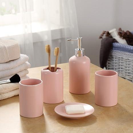 Z@SS Home Cerámica de accesorios de baño Set / Incluye dispensador de la loción