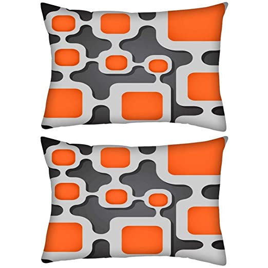 Pack de 2 Digital Tubo rectangular Toss Throw Pillow Cojín ...