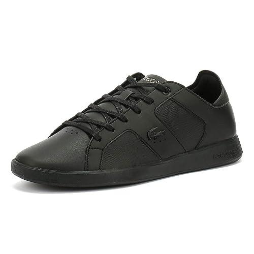 86e1d348f3daf Lacoste Novas Trainers Black  Amazon.co.uk  Shoes   Bags