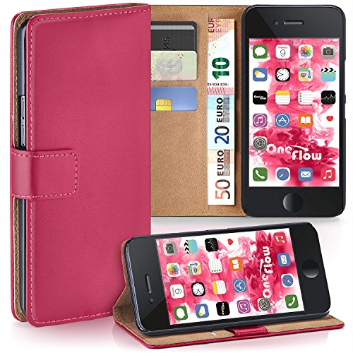 Fuchsia Berry (iPhone 6 / 6S Wallet Case, OneFlow [Credit Card Holder Slots and Kickstand] PU Wallet Case for iPhone 6 / 6S Faux Leather Flip Folio Cover - BERRY-FUCHSIA)
