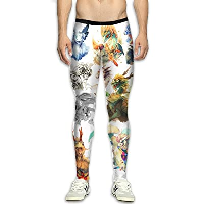 QWYHFHH Mens Draw Dragon Compression Pants Sport Tight Leggings Elastic Waist Baselayer Yoga Sports Trousers