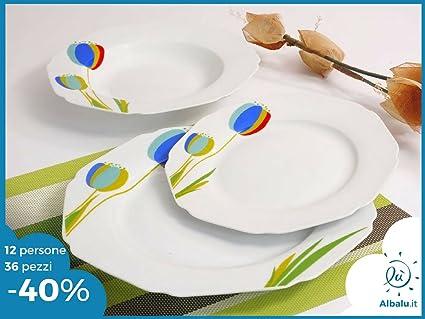 Servizio piatti per 12 persone da 36 pezzi moderni da tavola ...