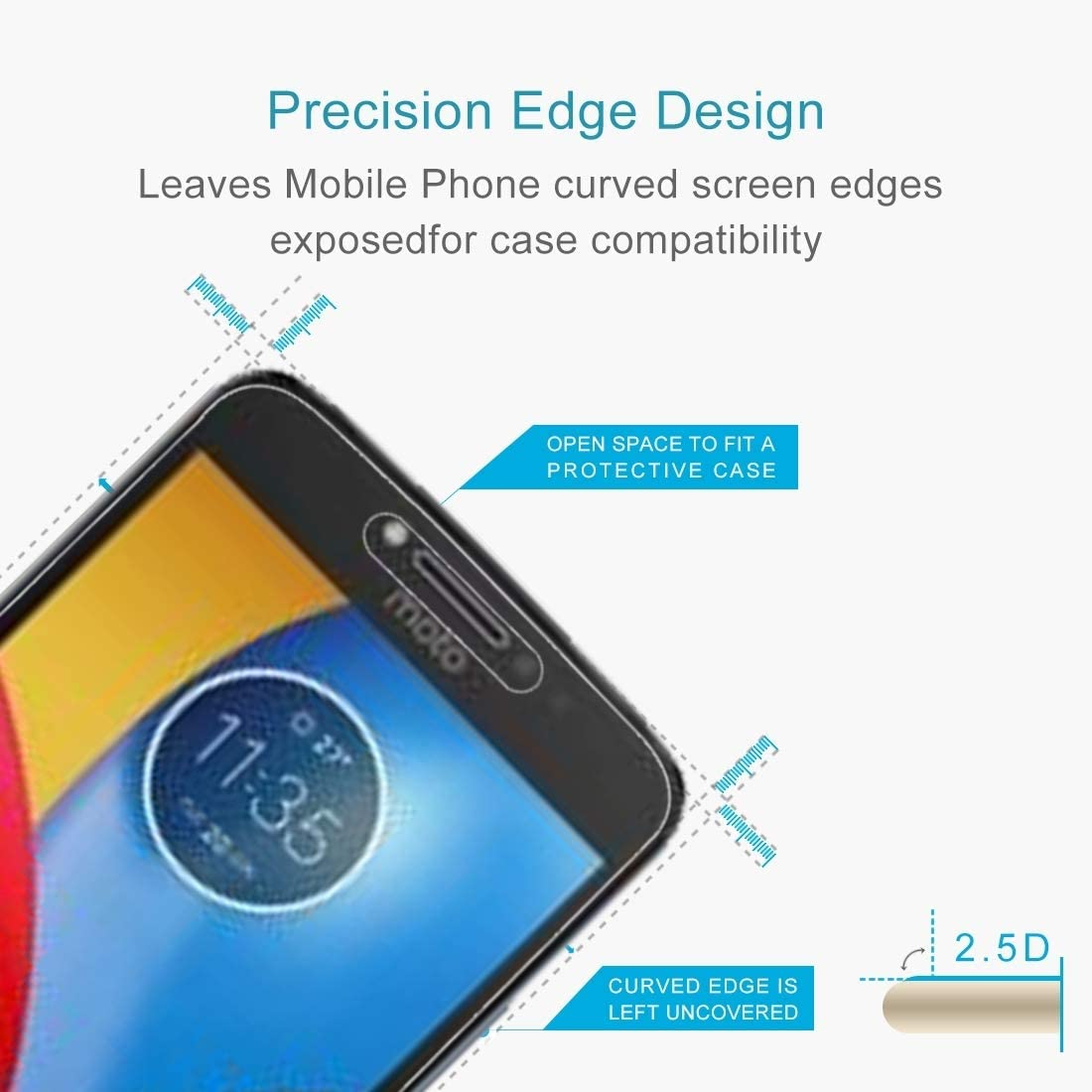GzPuluz Glass Protector Film 100 PCS for Motorola Moto C Plus 0.3mm 9H Surface Hardness 2.5D Explosion-Proof Tempered Glass Full Screen Film