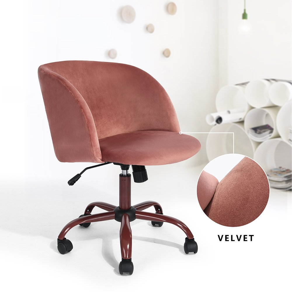 4 colors velvet armchairs fabric swivel office chair. Black Bedroom Furniture Sets. Home Design Ideas