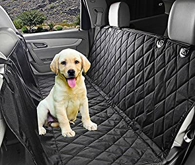 Waterproof Hammock Pet Car Seat Cover - Dog Back Seat Cover With Seat Anchors for Cars, Trucks and SUV - Machine Washable, Non Slip by Fragralley