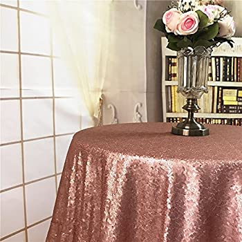 Diameter 48u0027u0027 Round Blush Sequin Tablecloths, Blush Sequin Round Table  Cloths, Blush