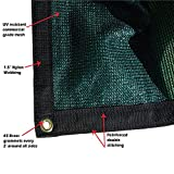Size: 6 ft. x 12 ft. -  7 oz Premium 90% Shade Cloth, Shade Sail, Sun Shade (Green Color) (MN-MS90-G0612)