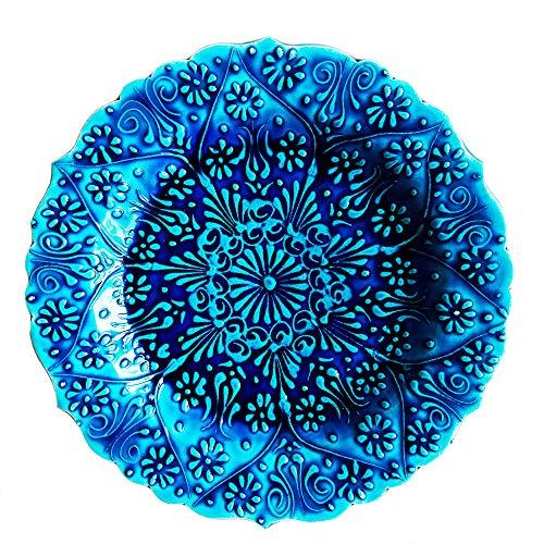 Ayennur Turkish Decorative Plate Handmade Ceramic Ornament for Home&Office
