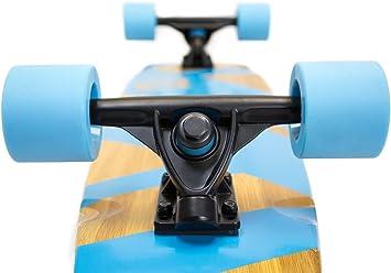 SC2BB19PK STRGHT Diamond Tail Cruiser Skateboard in Bamboo with Ram Design 28.5 x 7-Inch