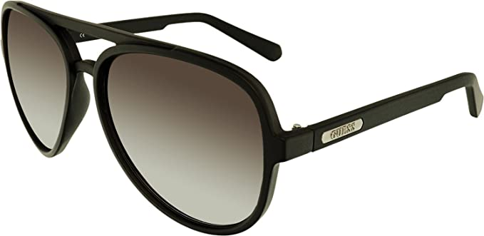 8f180062d633 Guess Men s Gradient GF0150-02C-60 Black Oval Sunglasses at Amazon ...