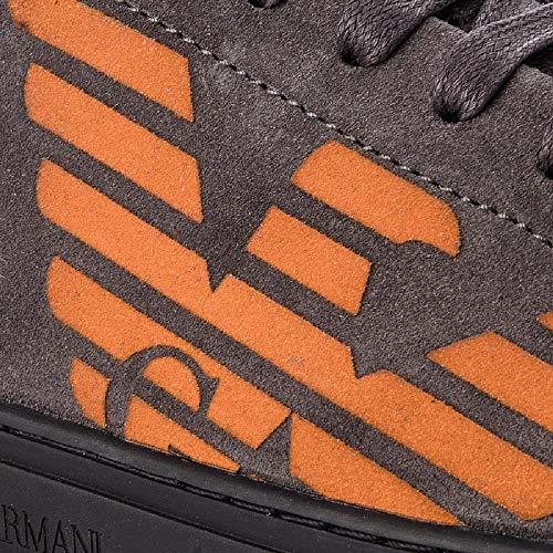 DarkGrey Emporio 42 Uomo Armani N Sneakers qqOUtzA