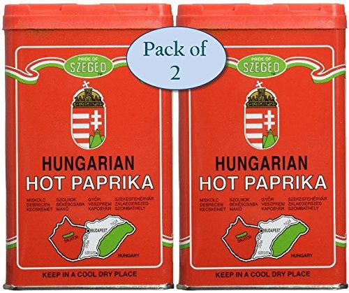 Szeged Hot Paprika Powder, 4-Ounce (Pack of 2) by Szeged