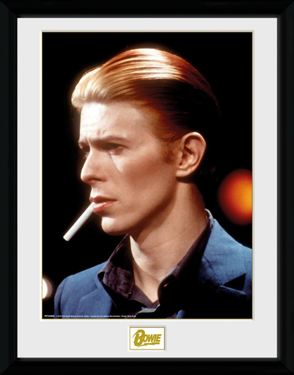 30 x 30cm Gb Eye David Bowie Ziggy Stardust Framed Album Cover Multi-colour
