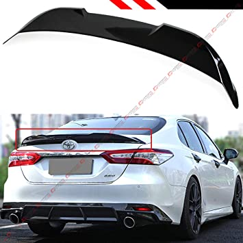 Cuztom Tuning Fits for 2018 2019 Toyota Camry LE XLE SE XSE Hybrid TR Style Duckbill Rear Trunk Lid Spoiler Wing Matt Black
