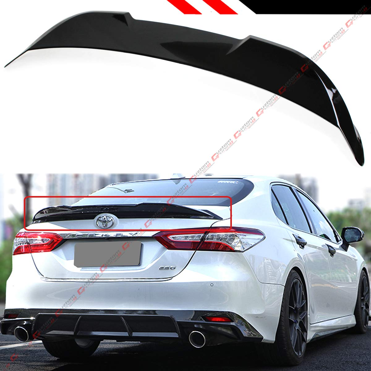 2018 Camry Le >> Cuztom Tuning Fits For 2018 2019 Toyota Camry Le Xle Se Xse Tr Style High Kick Duckbill Rear Trunk Lid Spoiler Wing Painted Gloss Black