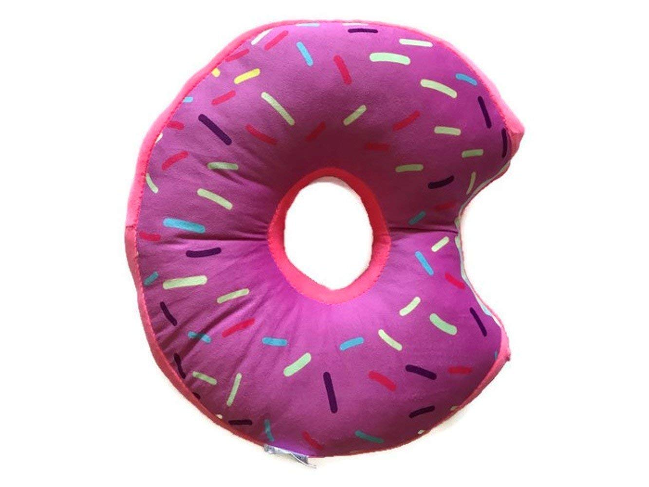 ویکالا · خرید  اصل اورجینال · خرید از آمازون · Donut Plush Pillow Stuffed Cushion Soft Toy Decor, 14 Inches (Pink Icing) wekala · ویکالا