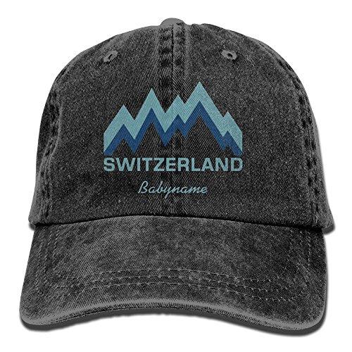 E-Isabel Switzerland Adjustable Hiking Cotton Washed Denim Caps - Switzerland In Shopping Online