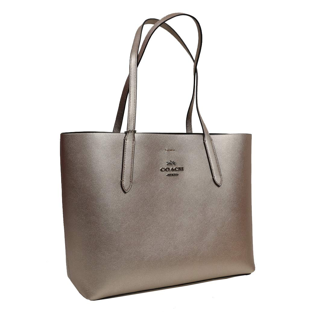 Coach Tote Leather Metallic Avenue Tote