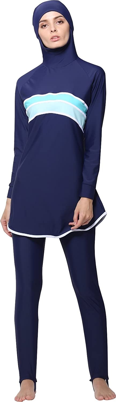 Ababalaya Muslimische Swimwear Beachwear Burkini Modest Badebekleidung AB-YY011