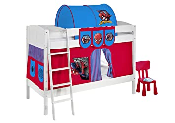 Lilokids Bunk Bed Ida 4106 Spiderman Divisible System Bed White
